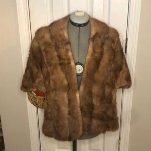 Vintage fur shawl topper